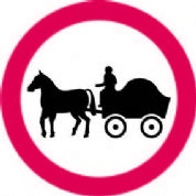 No Horse Drawn Vehicles